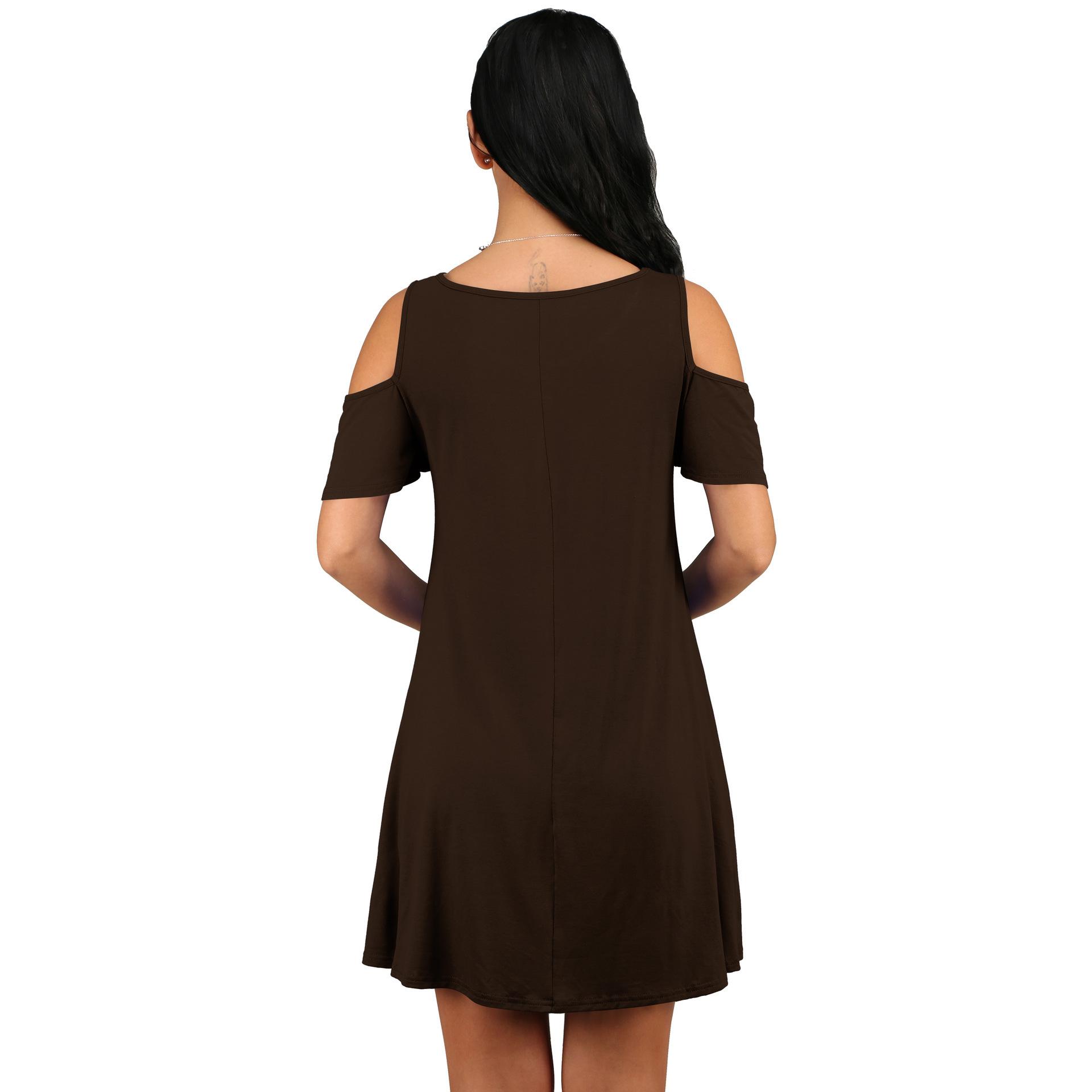 new holiday summer loose strapless short-sleeved pocket dresses NSYKD62966
