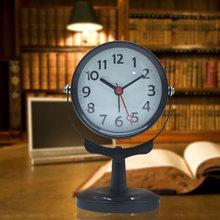 廠家現貨創意簡約數字歐式圓形鐘面 鬧鐘桌面立鐘大號探照燈批發