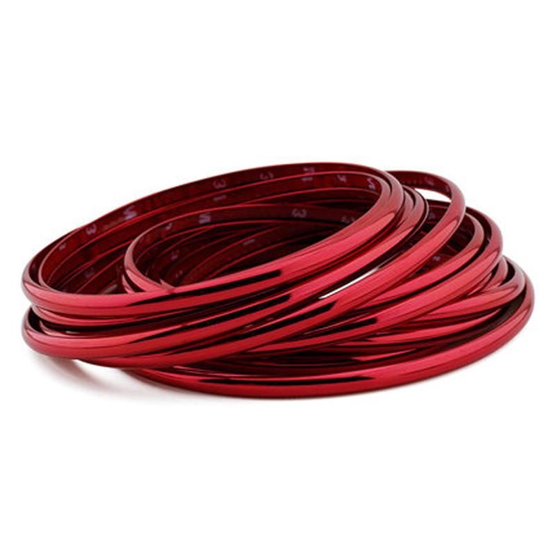 电镀轮毂贴汽车轮毂轮胎轮圈改装饰车轮贴保护圈防撞条中网装饰条