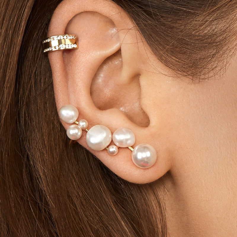 Jewelry heterosexual pearl multi-model female ear clip accessories NHLU173450