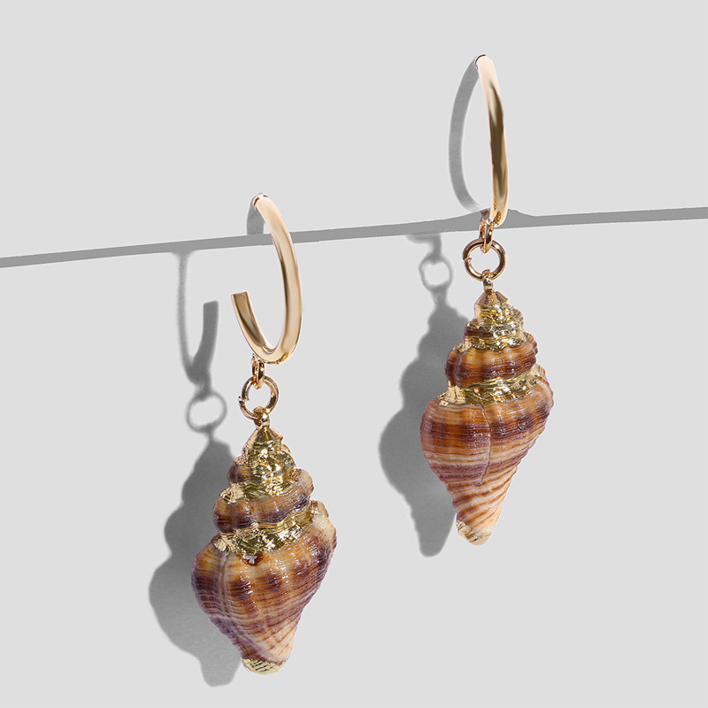 Womens Conch Sea Shell Seashell Other Earrings NHAS120989