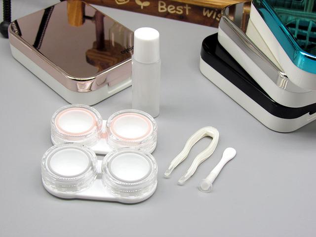 Hộp đựng kính áp tròng Kaida Hộp gương vô hình mạ hai cặp hộp làm đẹp K1712 Phụ kiện kính