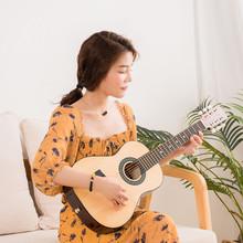 30寸圆角儿童民谣木吉他36寸成人正桶民谣木吉他?#29575;?#21021;学练习乐器