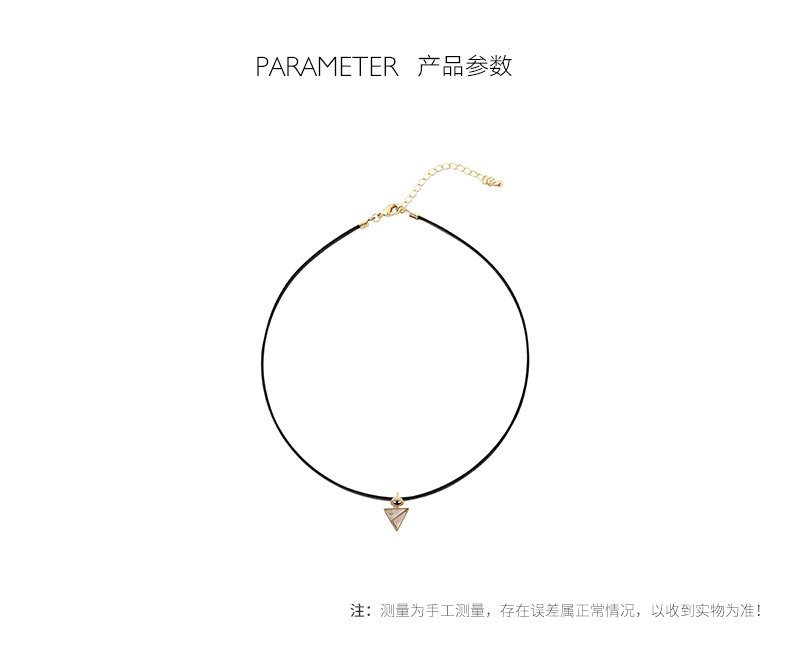 Simple black geometric alloy choker NHLL146968