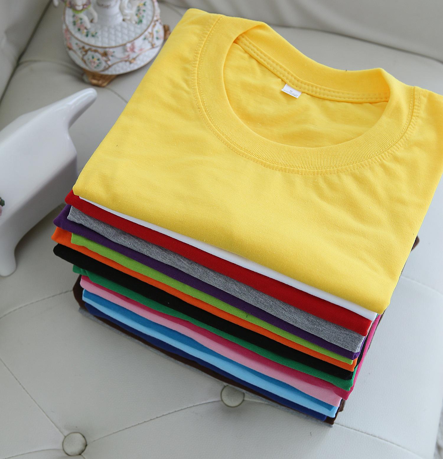 棉质圆领短袖广告衫定制文化衫定做班服工作服空白T恤logo定制