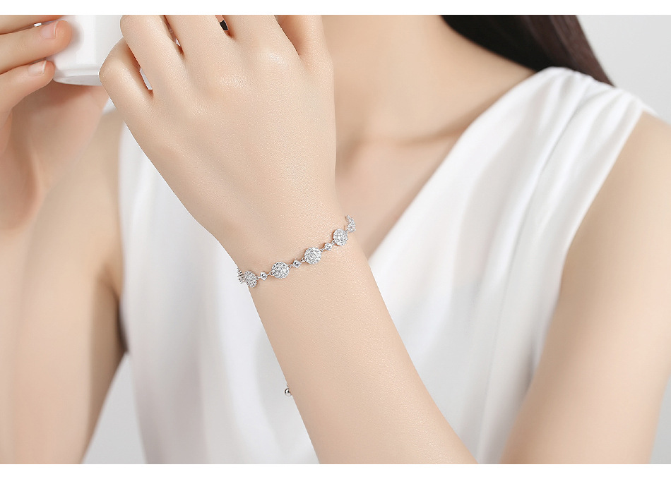 Fashion simple chain round pull bracelet NHTM145758