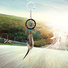 跨境专供MS7010新款迷你捕梦网小挂饰 汽车挂件钥匙扣羽毛装饰