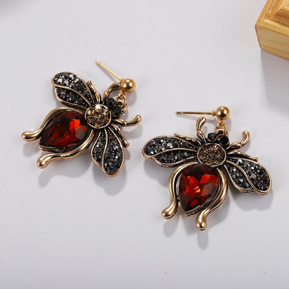 Alloy Fashion Animal earring  yellow  Fashion Jewelry NHJQ11289yellow