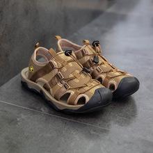 2019夏季男款沙滩包头户外徒步潮流凉鞋库存批发厂家直供一件代发