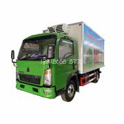 重汽豪沃蔬菜运输车 豪沃牌ZZ5047XLCF341CE145型冷藏车4吨果蔬车