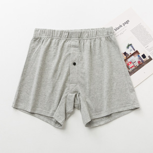 Men's cotton boxer briefs Ah Luo pants men's plus fat plus size briefs, solid color can be opened