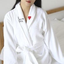 丁子女浴袍酒店纯棉割绒情侣个毛巾秋冬加厚男女成人吸水速干睡衣