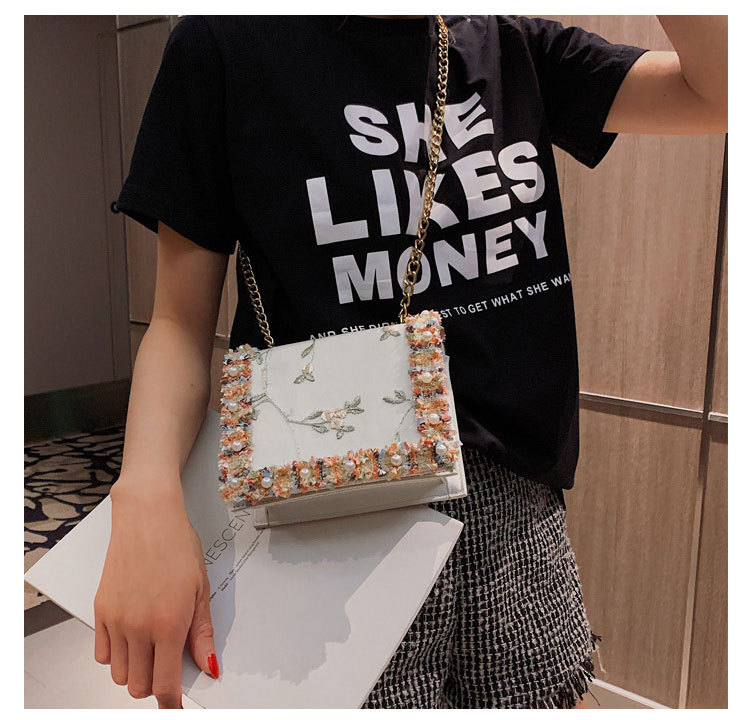 Beads lace ethnic style fashion chain shoulder bag LD190413117420