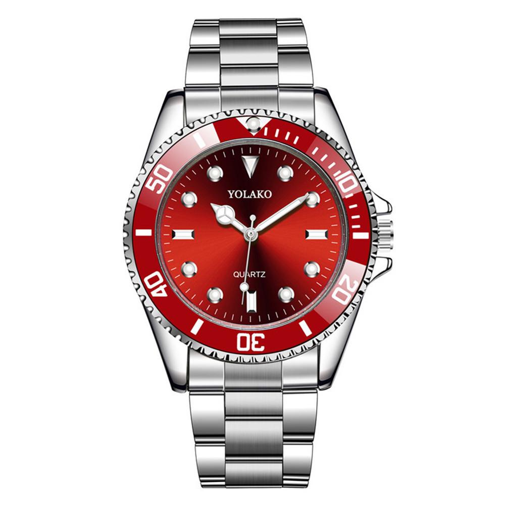 Fashion New Men's Steel Band Watch Waterproof Quartz Sports Watch Men's Watch NHSY201982