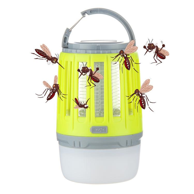 新款多功能灭蚊灯USB充电户外防水野营灯LED静音无辐射帐篷捕蚊器
