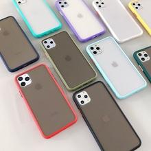 磨砂双色手机壳 适用于新款iPhone保护套 肤感撞色硅胶磨砂手机壳