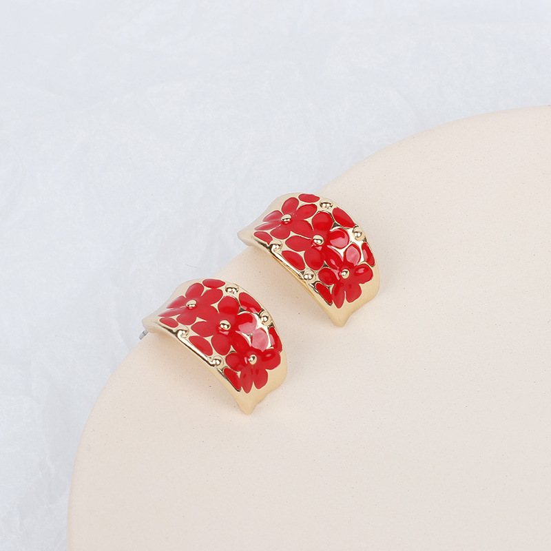 Fashion new colorful exaggerated women's earrings NHRN240966