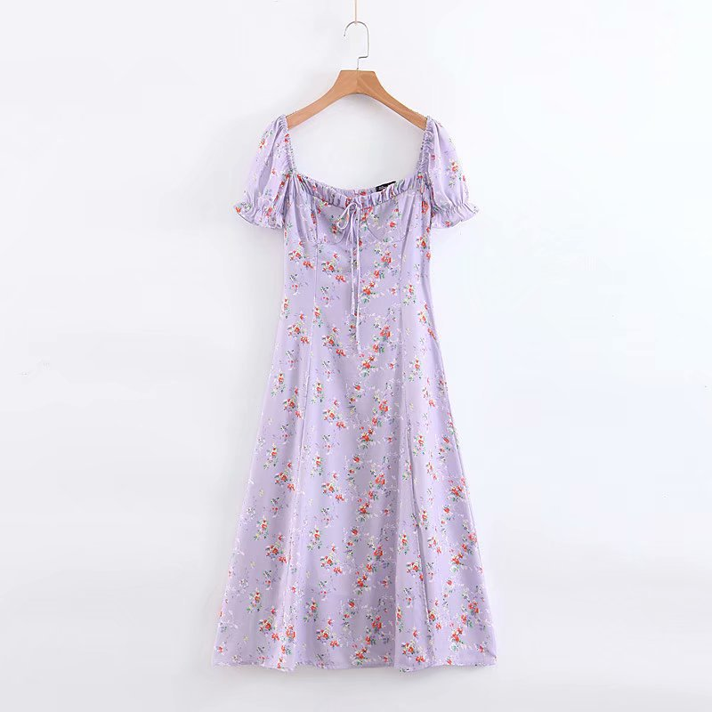 Palace style French retro floral slim dress NHAM153105