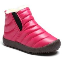 兒童雪地靴女童靴子2018新款男童冬季加絨棉靴防水保暖童鞋代發