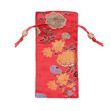 創意款中國風綢緞梳子袋 發簪禮品袋牛角梳袋子  桃木梳子包裝袋