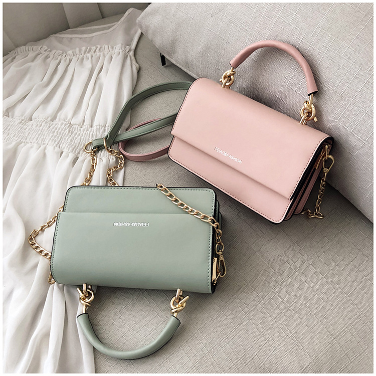Bag female new fashion Messenger bag chic shoulder portable small square bag NHPB172694