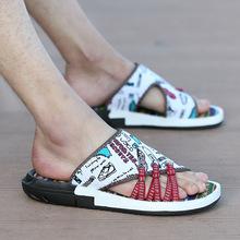 跨境爆款男士迷彩花色拖鞋亞馬遜wish速賣通ebay時尚人字涼拖外貿