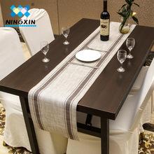 欧式桌旗餐垫条纹餐垫30*135CM pvc酒店桌旗垫可水洗餐垫批发代发