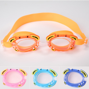 Factory stock cute waterproof and anti-fog children's swimming goggles learn to swim goggles baby cartoon mirror with adjustable