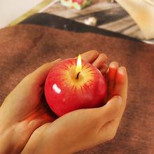 圣诞节礼物仿真红苹果蜡烛生日派对平安果蜡烛元旦节礼品一件代发