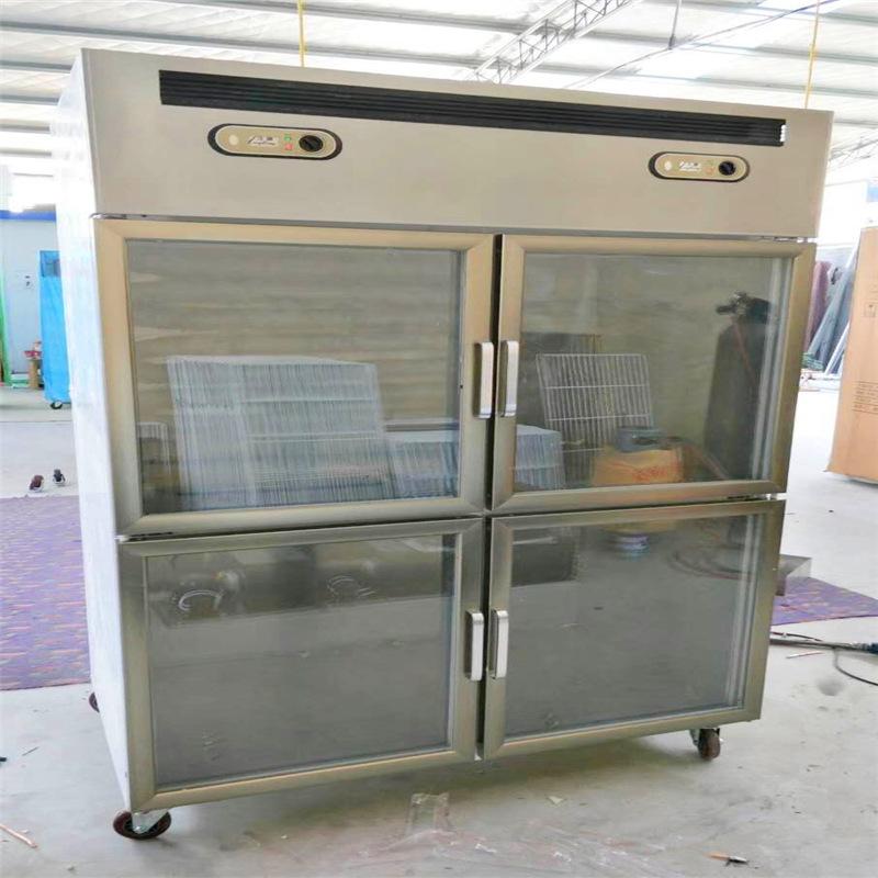 厂家直销商用厨房玻璃门展示柜双门四门厨房蔬菜不锈钢冷藏展示柜