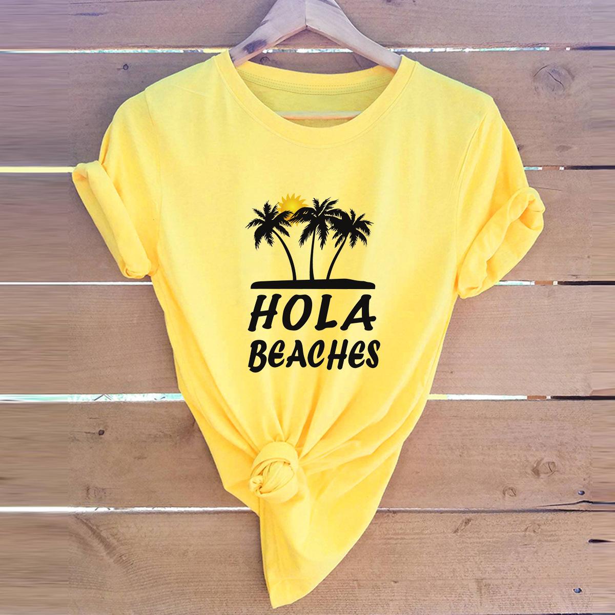 women's printed tops hot abstract short-sleeved T-shirt  NSSN3793