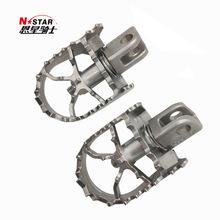 N-STAR 异兽650不锈钢旋转脚踏加宽钉面 摩托车配件厂家直供招代