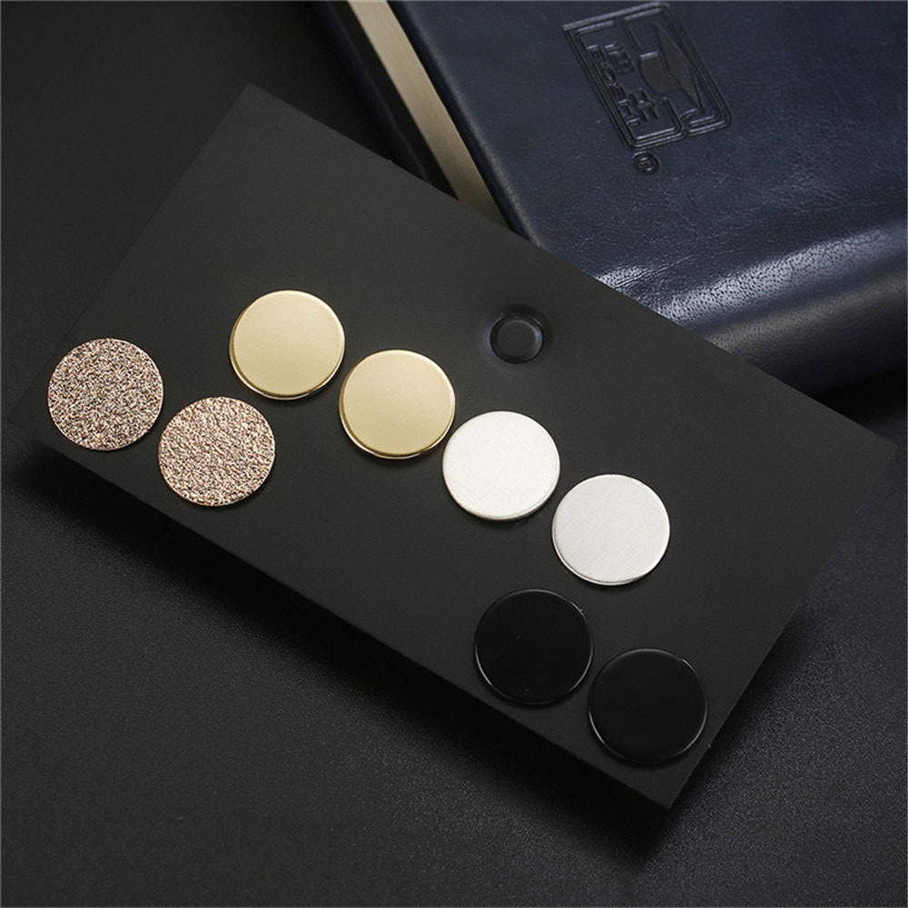 fashion alloy stud earrings  retro disc combination earrings suit  wholesale nihaojewelry NHZU221378