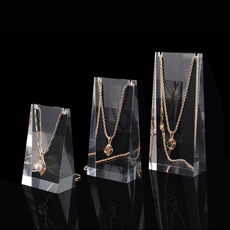 亚克力展示架透明项链耳环吊坠链珠宝首饰展示道具饰品架陈列架子