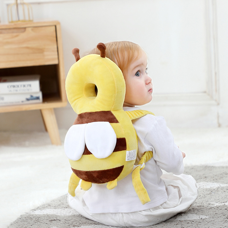 Baby Toddler Head Pillow Anti-Fall Pillow Breathable Head Protector Little Bee Head Protective Anti-Fall Cap