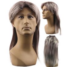 亚马逊新品爆款欧美假发男士中分长发明星款假发套厂家现货批发