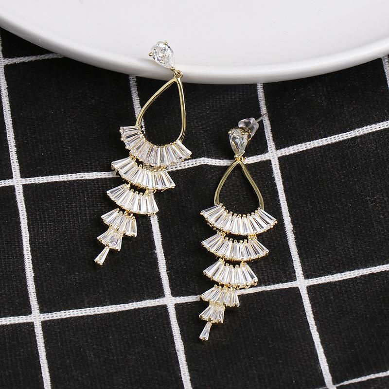 Pearl earrings wild personality long tassel earrings women NHJJ185394