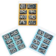 智力扣8件套ABC 金属益智 九连环系列解环解扣批发 智力扣八件套