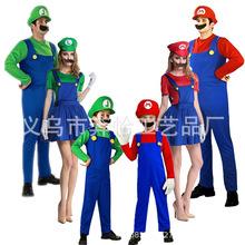万圣节超级玛丽奥服装 cosplay服装Mario路易衣服女款裙子套装