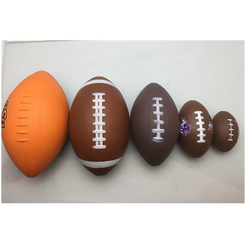定做慢回彈pu球批發泡免充氣壓力球1號2號3號6號美式橄欖球捏壓球