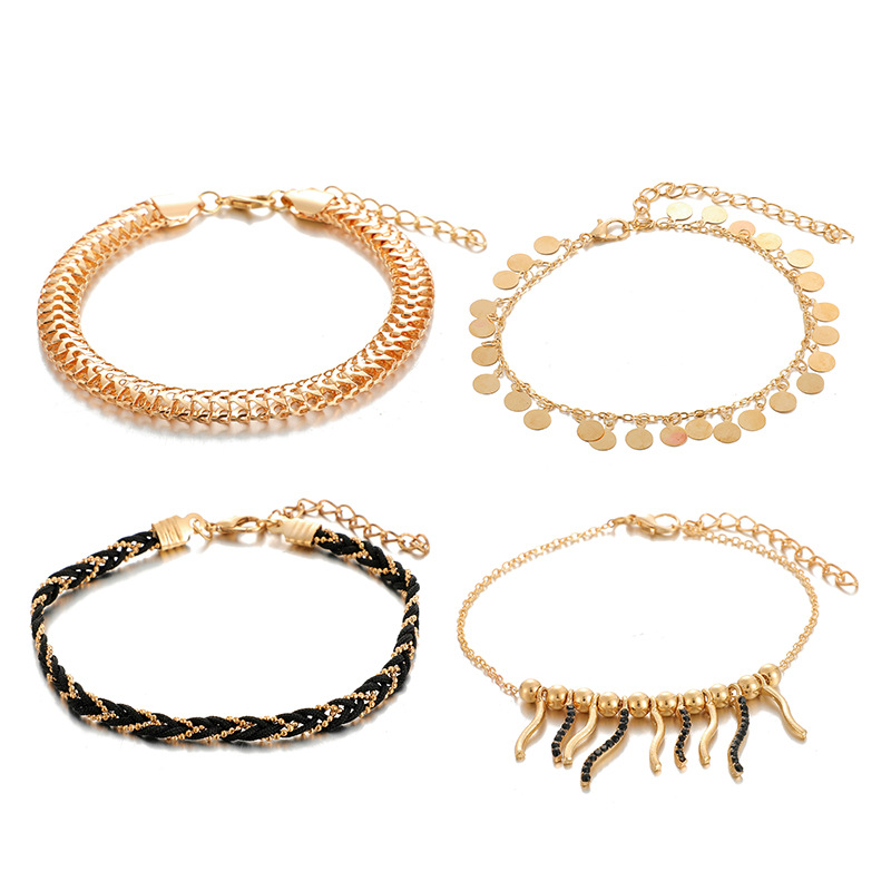 Fashion wild chain tassel disc anklet new anklet wholesale NHGY201016