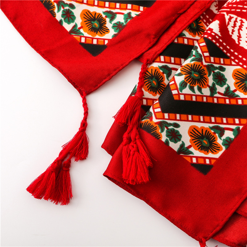 Spring and Autumn Women's Twill Cotton Fringe Beach Holiday Sunscreen Shawl Cotton Scarf Fashion Wholesale   NHGD177941