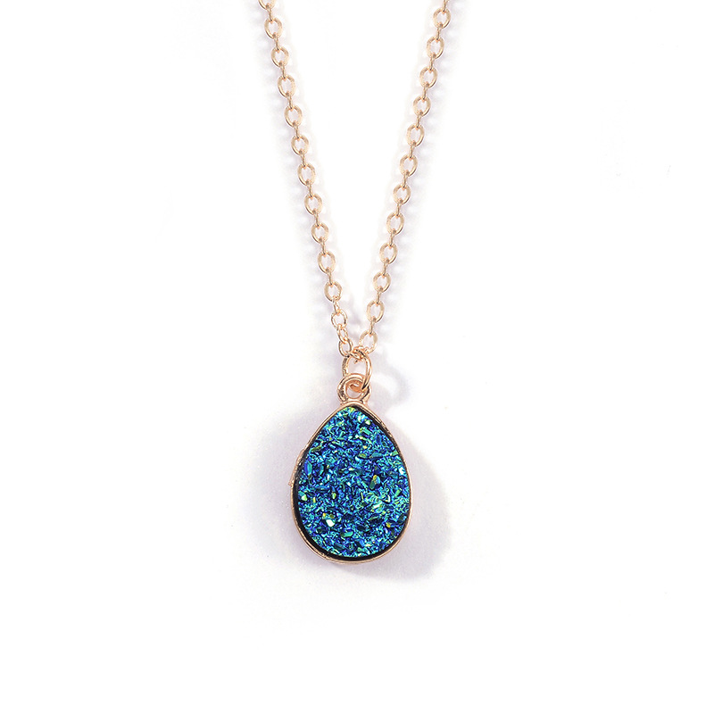 Fashion sweet crystal cluster drop alloy necklace NHDP152730