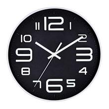 外貿電子壁鐘復古客廳掛鐘10寸 書房創意時鐘單面塑料鐘表批發