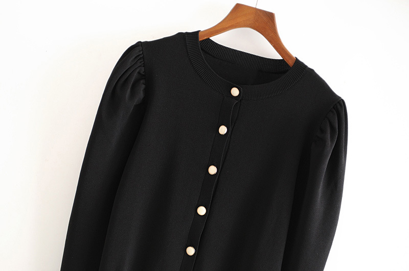 Solid-colored long-sleeved wild jacket with buttoned sleeves NHAM186142