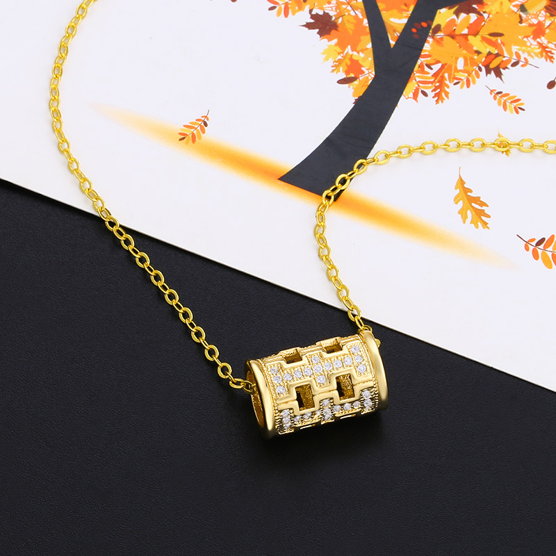 Alloy Simple Geometric necklace  (Alloy)  Fashion Jewelry NHAS0531-Alloy
