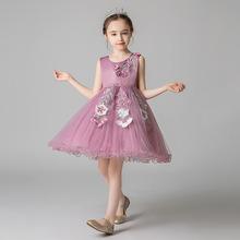 兒童公主裙中小童裝禮服裙子3-8歲服裝女童蓬蓬網紗裙表演服裝夏