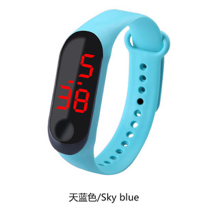 2019 new millet three-button led bracelet watch children male and female student sports new gift M3 watch