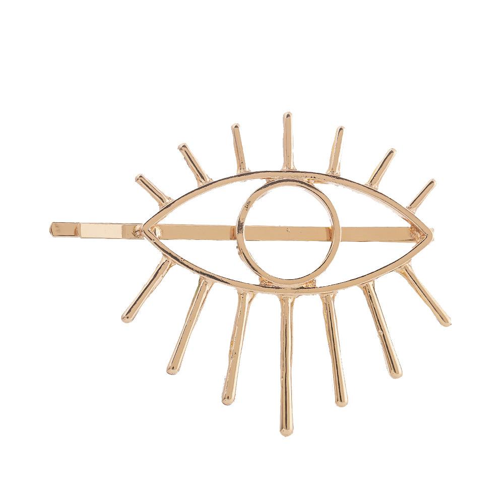 Best selling headwear simple hollow alloy Fatima devil eye eyes hairpin NHHN176488