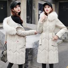 冬季女棉衣中长款2019新款收腰显瘦中年妈妈羽绒棉棉服外套大码胖